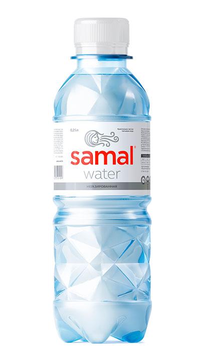 Вода Samal 0,25 л  Негазированная